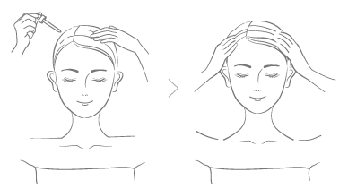 頭皮・頭髪の使用方法画像